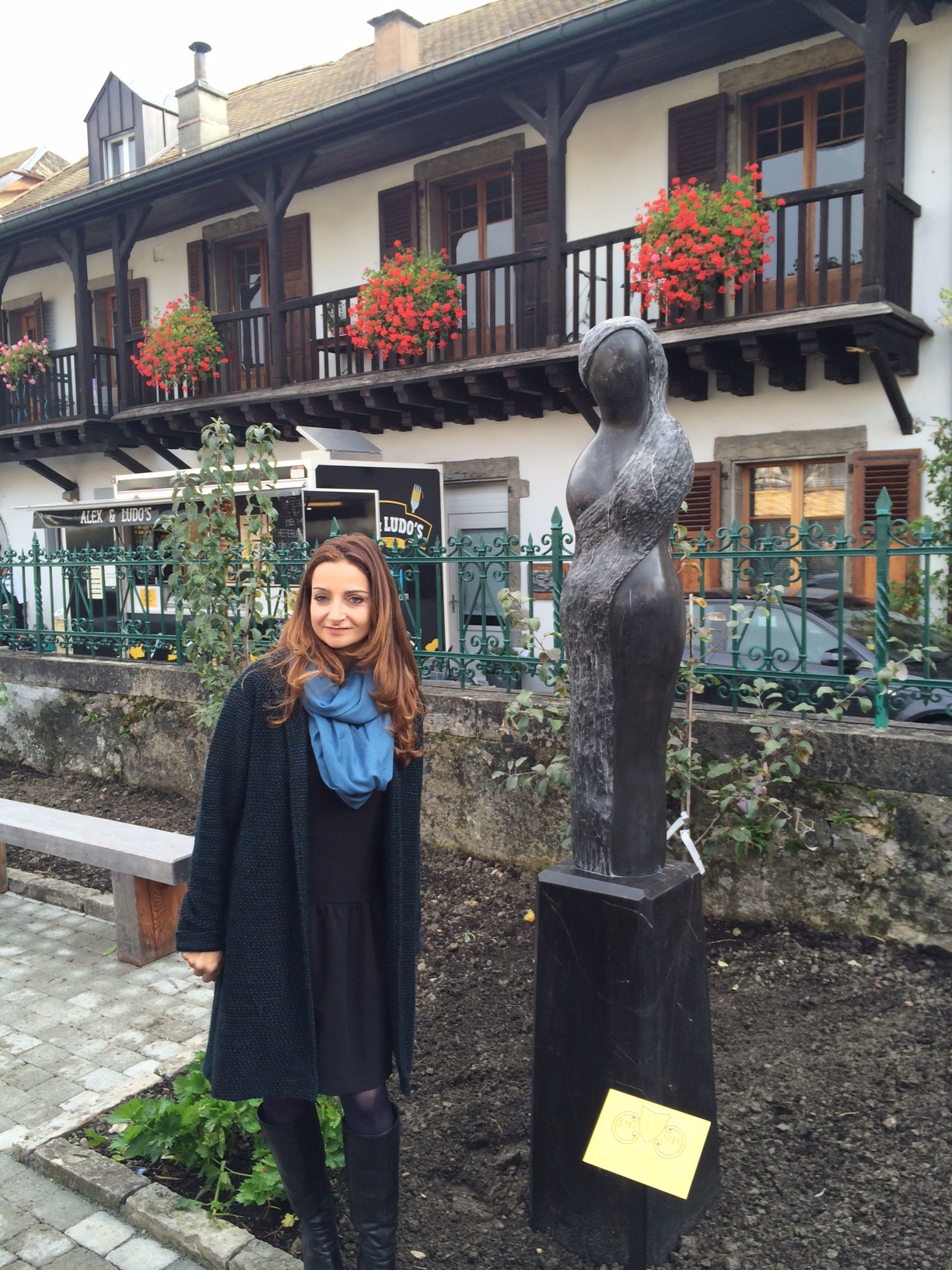 Alexia weill sculptures inauguration for We jardin 2015